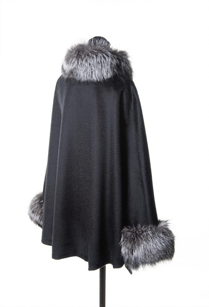 Black Baby Suri Zibilene Alpaca with Indigo Fox Trim