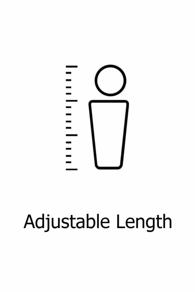 Adjustable length on garment option