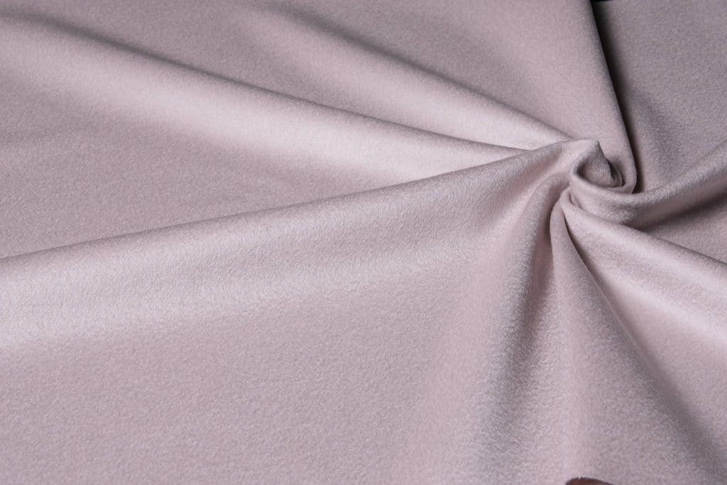 100% cashmere fabric in baby pink color