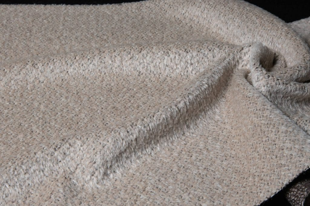Alpaca fabric in beige color