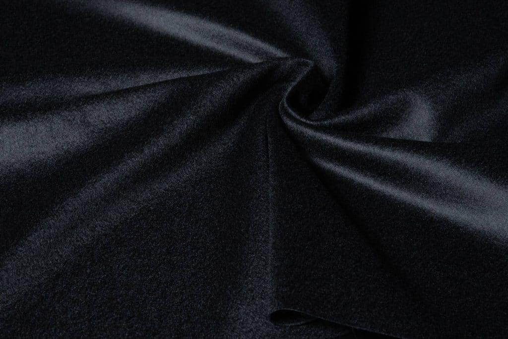100% cashmere fabric in black color