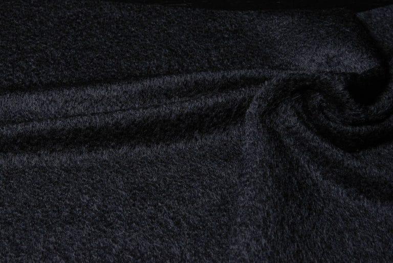 Alpaca fabric in black color