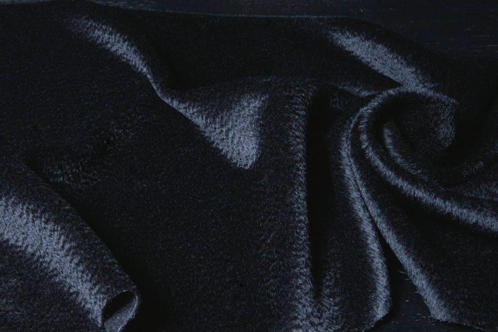 Zibilene Alpaca Fabric Black Color