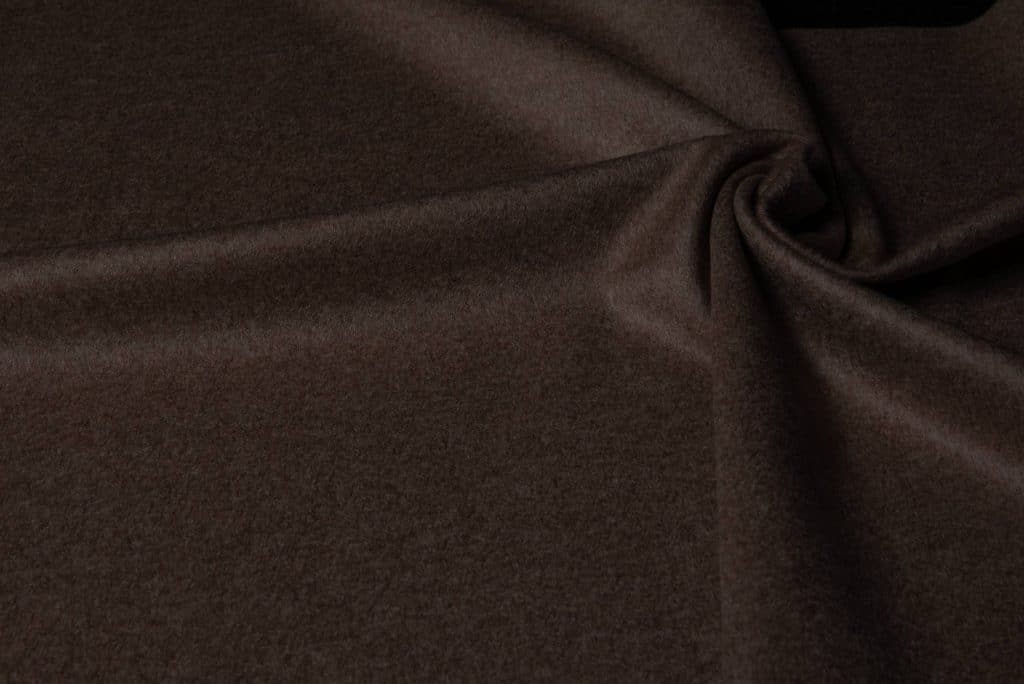 100% cashmere fabric in brown color
