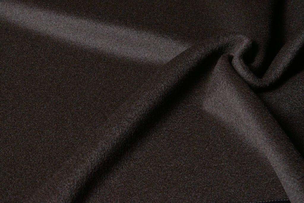 Baby alpaca fabric in brown color