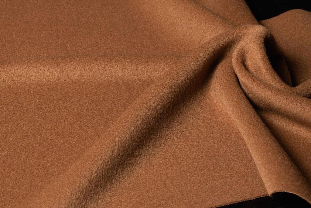 Baby alpaca fabric in camel color