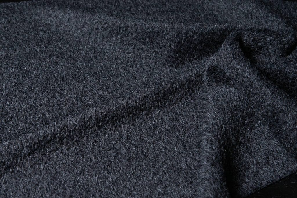 Alpaca fabric in charcoal color