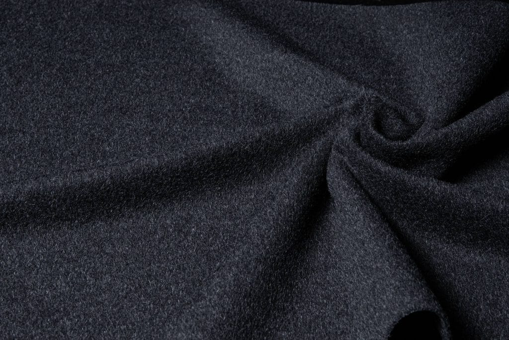 Baby alpaca fabric in charcoal color