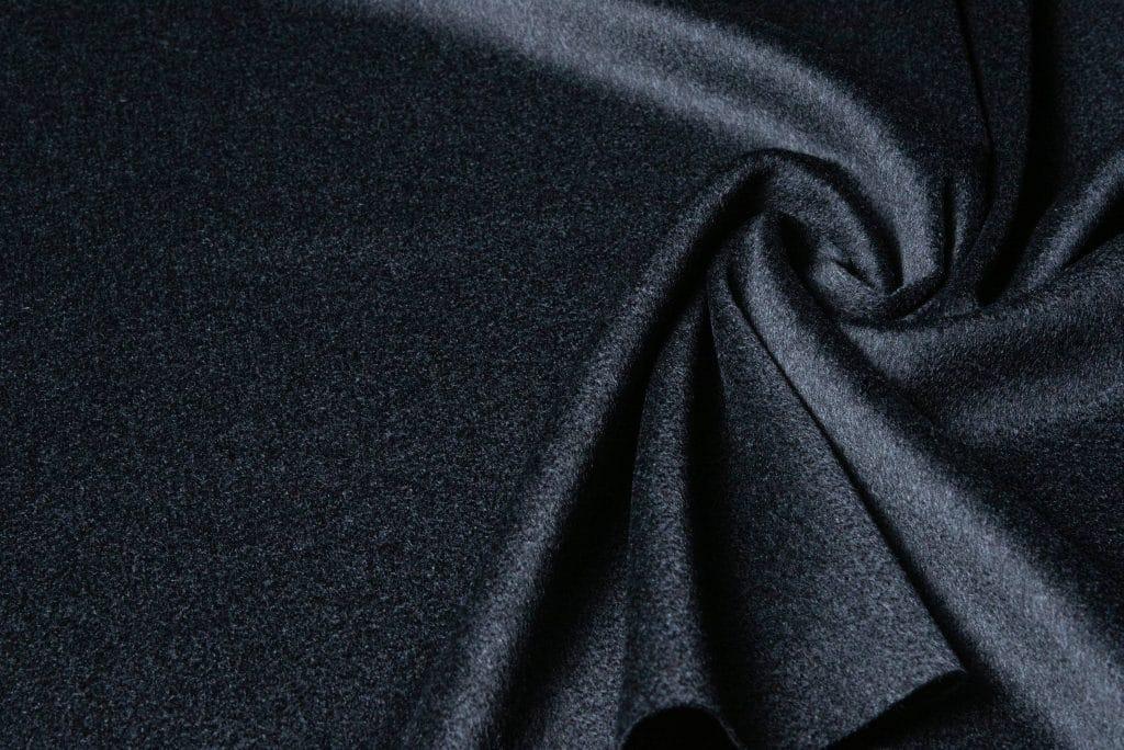 Loro Piana fabric in charcoal color