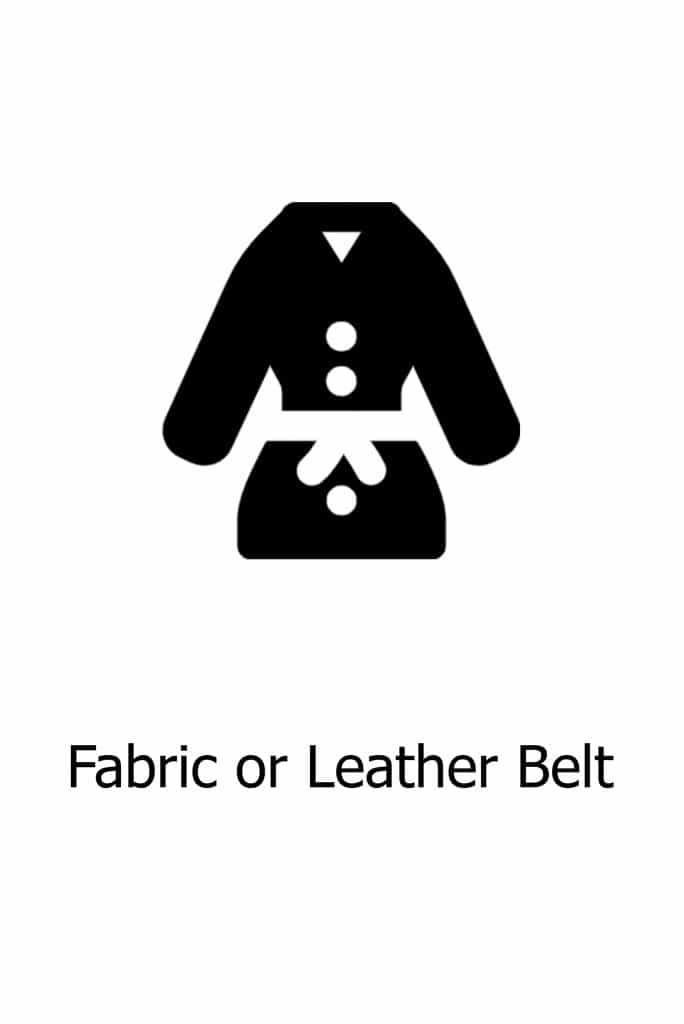 Fabric or Leather Belt Option