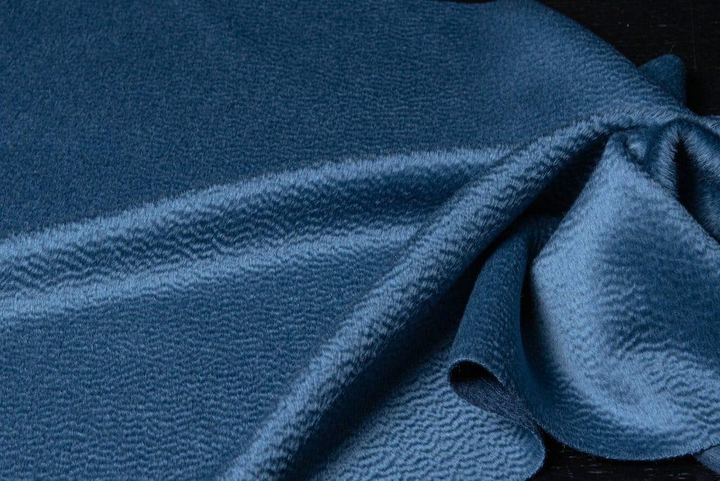 Baby zibilene alpaca fabric in heather blue color