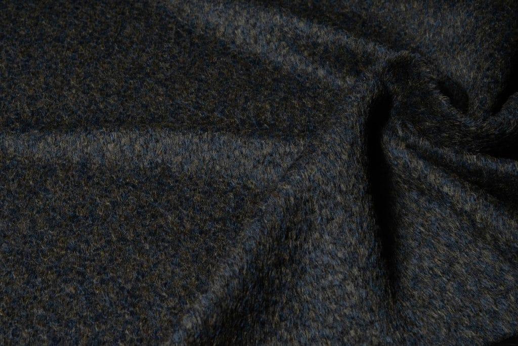 Alpaca fabric in navy brown color