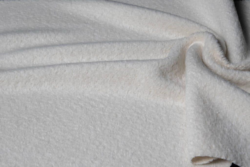 Alpaca fabric in off white color