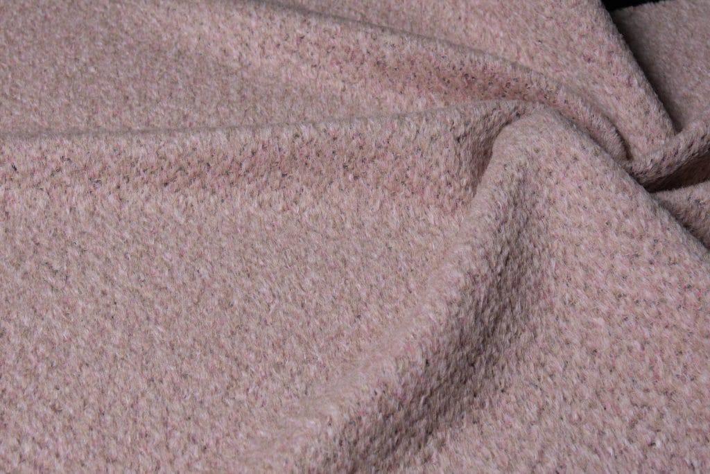 Alpaca fabric in pink color