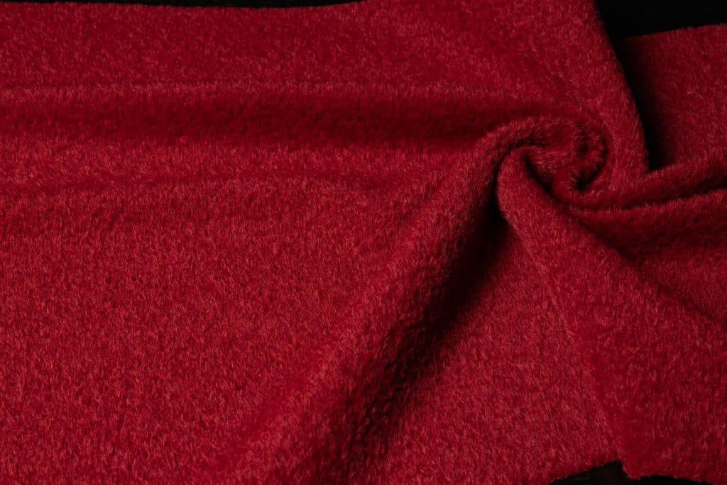 Alpaca fabric in red color