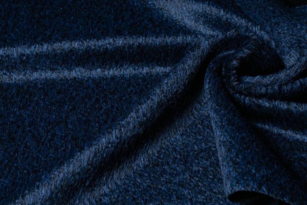 Alpaca fabric in royal blue color