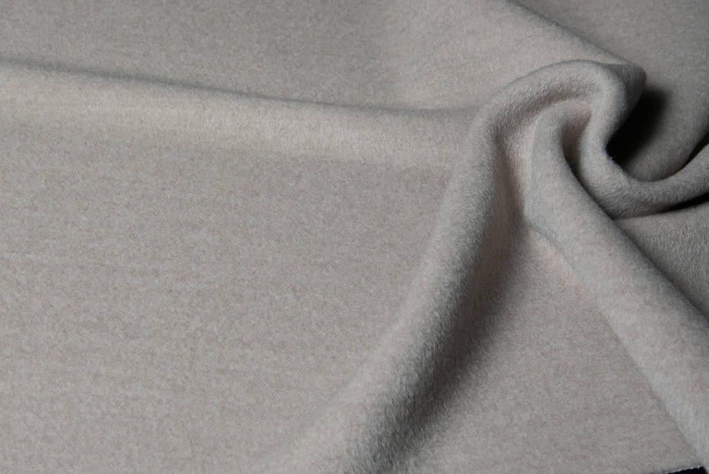 Baby alpaca fabric in sand color