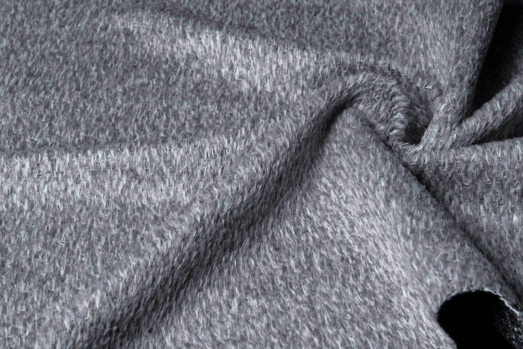 Alpaca fabric Silver color