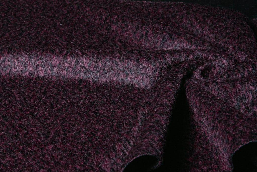 Alpaca fabric in wine color