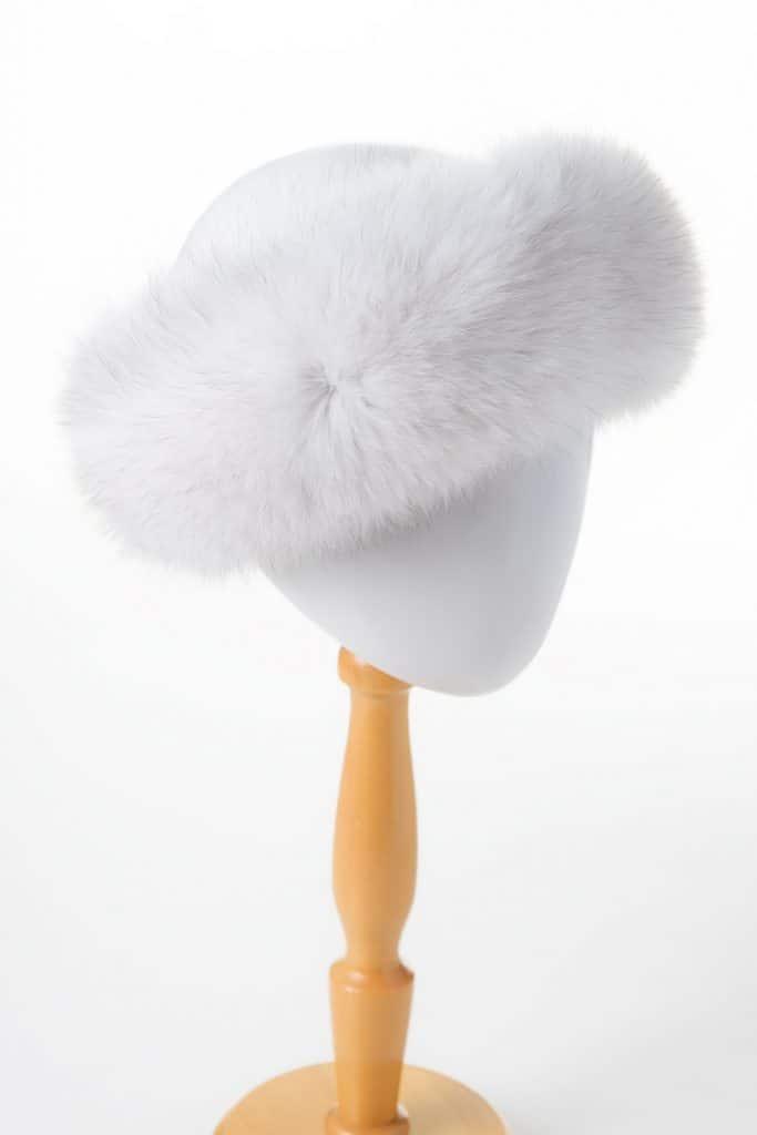 Fox Velcro Headband in Natural Blue Fox Color