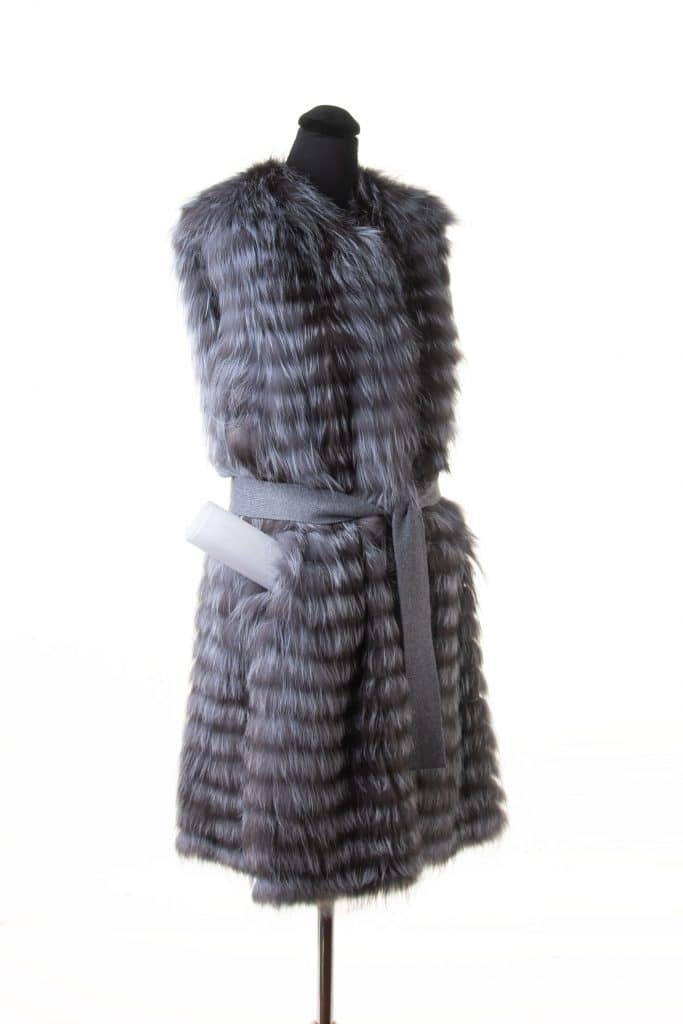 Fox Knit Belted Vest