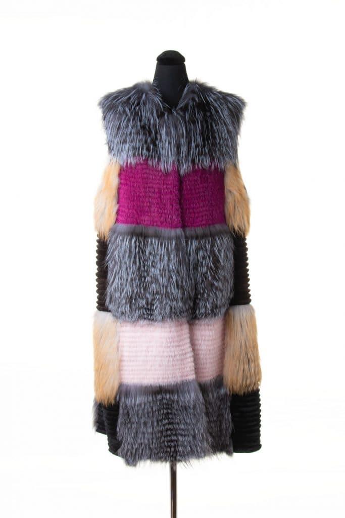 Mixed fur vest