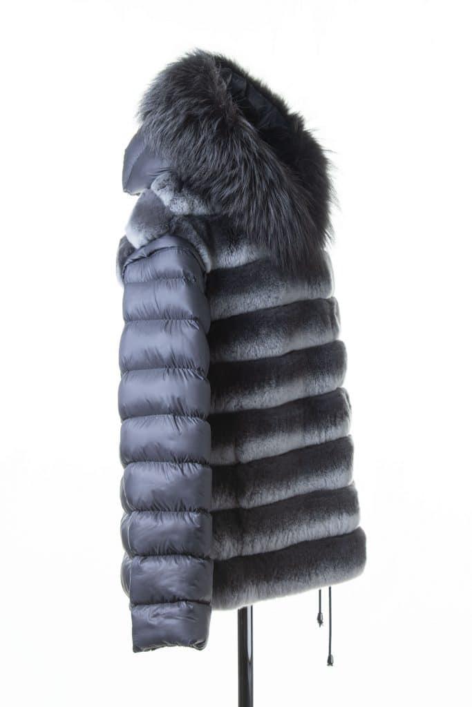 Rec Puff Jacket with a Fox Trim Hood